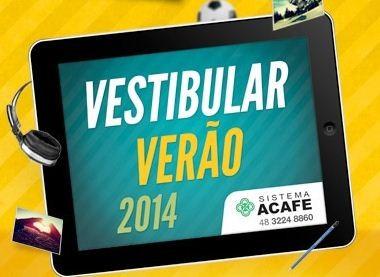 Vestibular Acafe 2015- Inscrições, provas e gabarito!