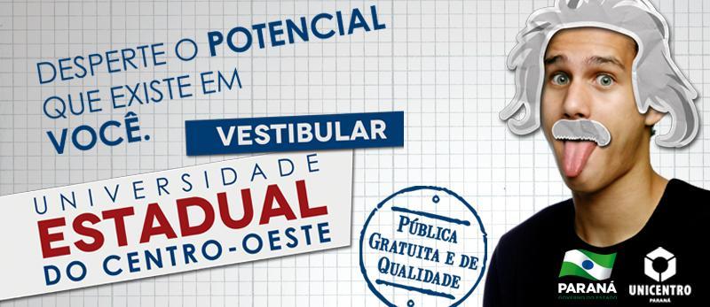inscrição Vestibular Unicentro